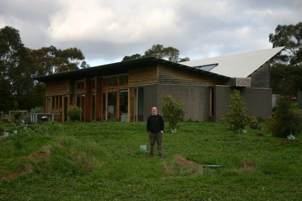 Tim Adam's self-sufficient 7-star energy efficient Gherang home.